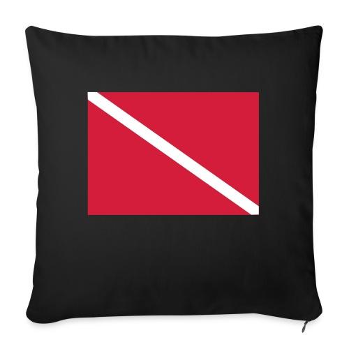 Diver Flag - Sofa pillowcase 17,3'' x 17,3'' (45 x 45 cm)