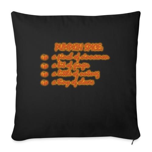 PumpkinSpiceRecipe - Copricuscino per divano, 45 x 45 cm