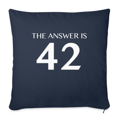 The Answer is 42 White - Sofa pillowcase 17,3'' x 17,3'' (45 x 45 cm)