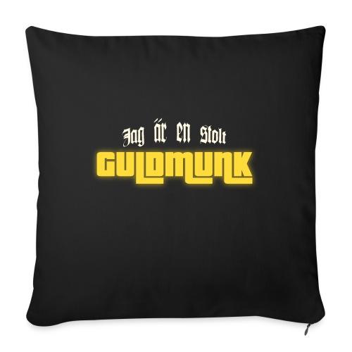 Jag är en stolt GULDMUNK - Soffkuddsöverdrag, 45 x 45 cm