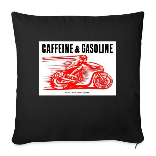 Caffeine & Gasoline black text - Sofa pillowcase 17,3'' x 17,3'' (45 x 45 cm)