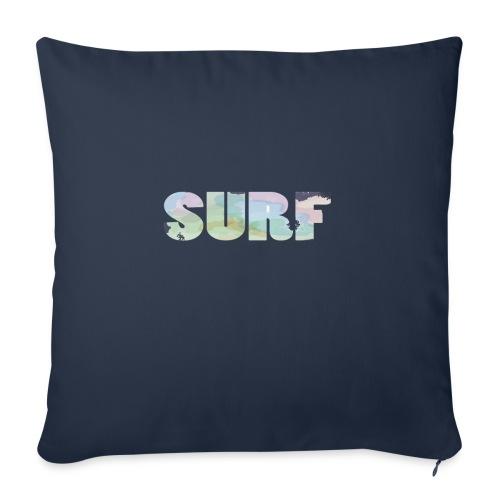 Surf summer beach T-shirt - Sofa pillowcase 17,3'' x 17,3'' (45 x 45 cm)