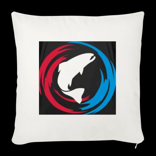 Logo Fisk - Soffkuddsöverdrag, 45 x 45 cm