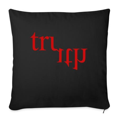 Twisted Truth Red - Sofa pillowcase 17,3'' x 17,3'' (45 x 45 cm)