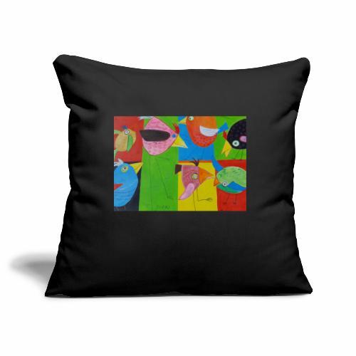 Lovebirds - Liebesvögel - Sofakissenbezug 44 x 44 cm
