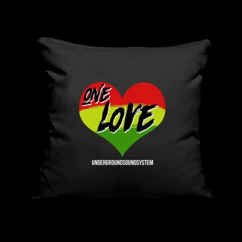 ONE LOVE - HEART - Sofakissenbezug 44 x 44 cm