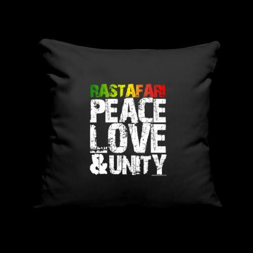 RASTAFARI - PEACE LOVE & UNITY - Sofakissenbezug 44 x 44 cm