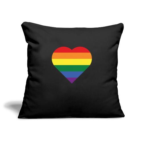 RainbowHeart - Sofa pillowcase 17,3'' x 17,3'' (45 x 45 cm)
