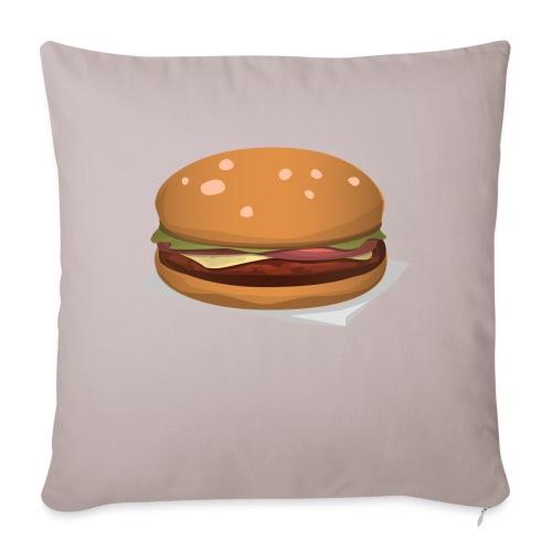 hamburger-576419 - Copricuscino per divano, 45 x 45 cm