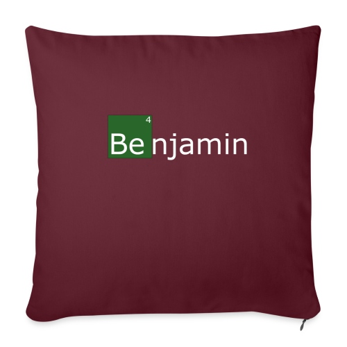 benjamin - Housse de coussin décorative 45x 45cm