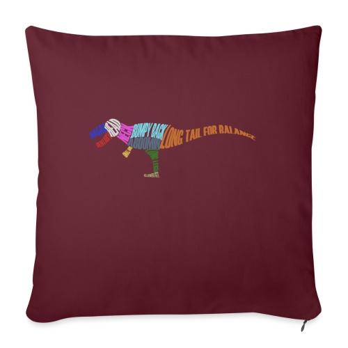DINOSAUR - Sofa pillowcase 17,3'' x 17,3'' (45 x 45 cm)
