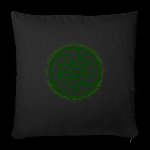 Green Celtic Triknot - Sofa pillowcase 17,3'' x 17,3'' (45 x 45 cm)