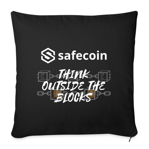 Safecoin Think Outside the Blocks (white) - Sofa pillowcase 17,3'' x 17,3'' (45 x 45 cm)