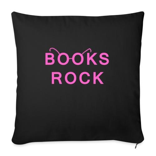 Books Rock Pink - Sofa pillowcase 17,3'' x 17,3'' (45 x 45 cm)