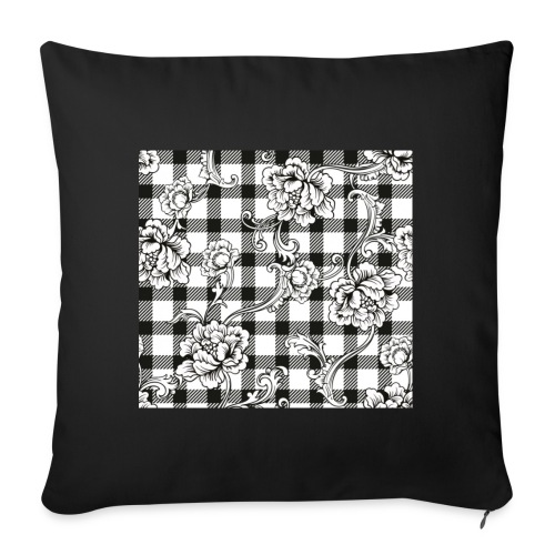 CHECK pattern throw pillow - Sofa pillowcase 17,3'' x 17,3'' (45 x 45 cm)