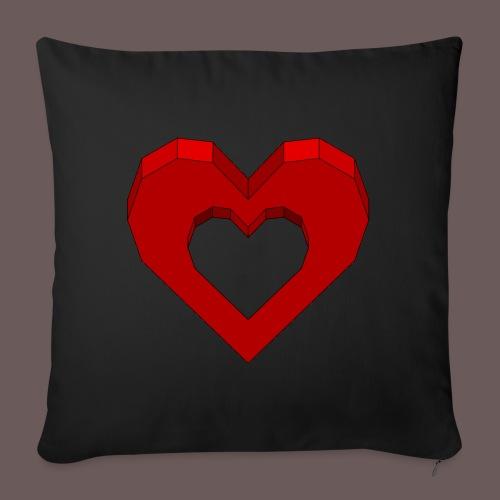 Heart Illusion - Pudebetræk 45 x 45 cm