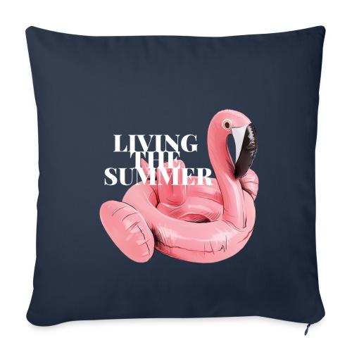 Living the Summer - Funda de cojín, 45 x 45 cm