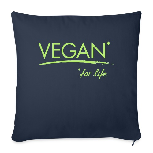 vegan for life 1c - Sofakissenbezug 44 x 44 cm