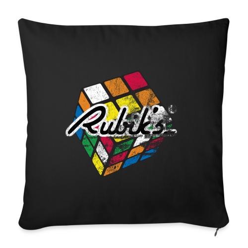 Rubik's Cube Colourful Retro Magic Cube - Soffkuddsöverdrag, 45 x 45 cm