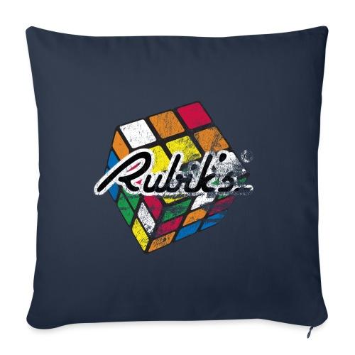 Rubik's Cube Colourful Retro Magic Cube - Sofa pillowcase 17,3'' x 17,3'' (45 x 45 cm)