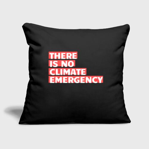 There is no climate emergency - Sohvatyynyn päällinen 45 x 45 cm