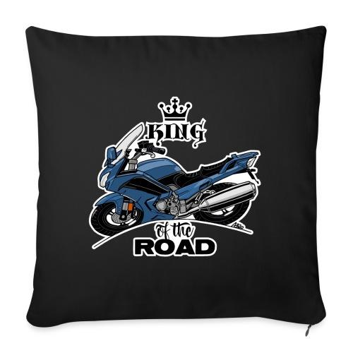 0885 FJR KING of the ROAD (blauw) - Sierkussenhoes, 45 x 45 cm