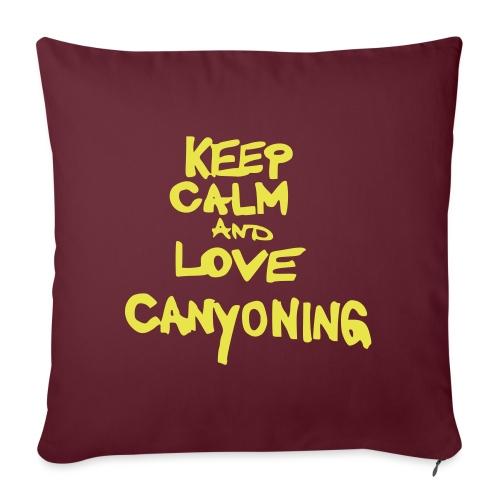 keep calm and love canyoning - Sofakissenbezug 44 x 44 cm