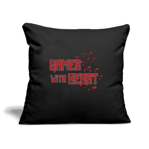 Gamer with heart - Sofa pillowcase 17,3'' x 17,3'' (45 x 45 cm)