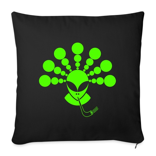 The Smoking Alien Green - Sofa pillowcase 17,3'' x 17,3'' (45 x 45 cm)