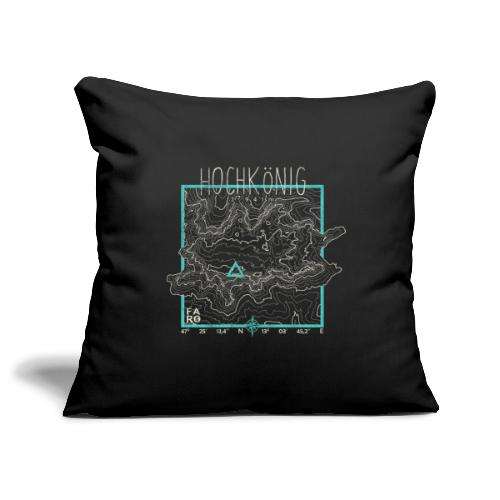 Hochkoenig Contour Lines - Square - Sofa pillowcase 17,3'' x 17,3'' (45 x 45 cm)