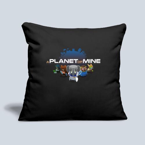 logo planetofmine dark HD - Housse de coussin décorative 45x 45cm