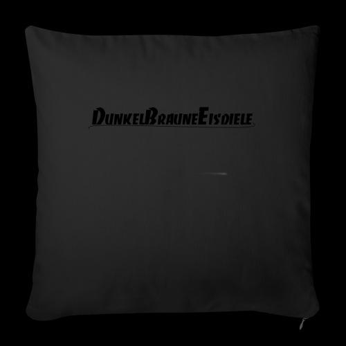 Dunkelbraune Eisdiele Black - Sofakissenbezug 44 x 44 cm