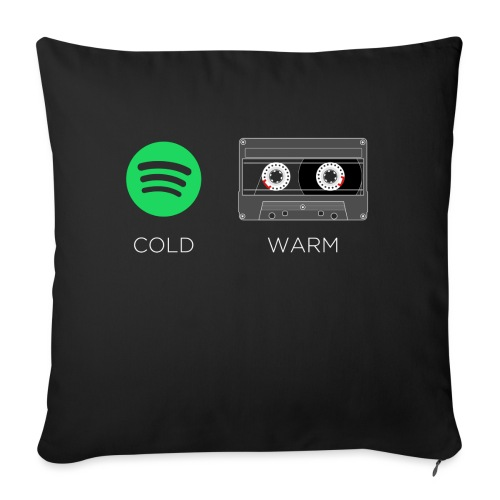Spotify cold - warm cassette - Sofa pillowcase 17,3'' x 17,3'' (45 x 45 cm)
