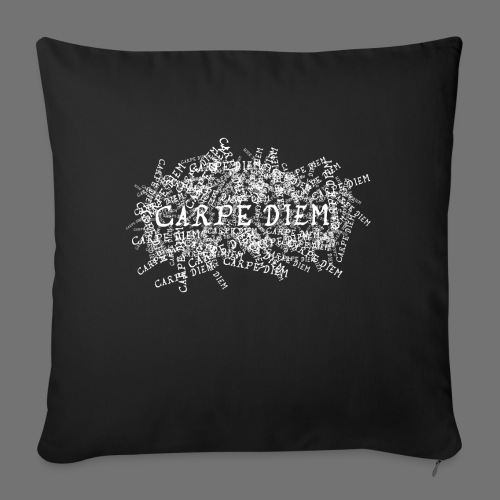 carpe diem (white) - Sofa pillowcase 17,3'' x 17,3'' (45 x 45 cm)