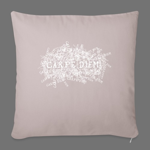 carpe diem (white) - Sofa pillowcase 17,3'' x 17,3'' (45 x 45 cm)