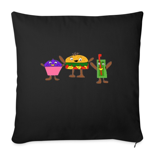 Fast food figures - Sofa pillowcase 17,3'' x 17,3'' (45 x 45 cm)