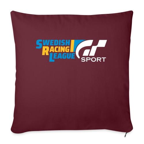 Swedish Racing League GT Sport vit - Soffkuddsöverdrag, 45 x 45 cm