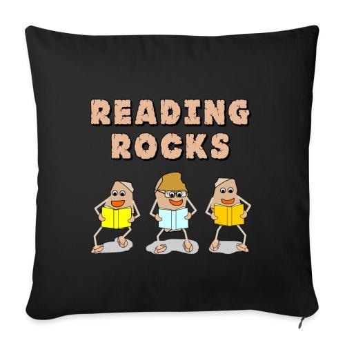 Reading Rocks Funny Book Lovers - Sofa pillowcase 17,3'' x 17,3'' (45 x 45 cm)
