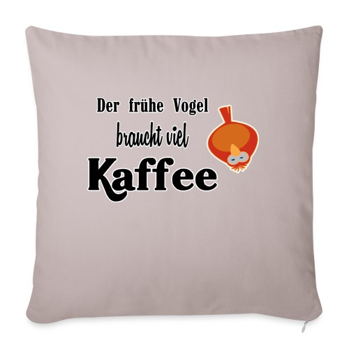 kaffeeVogel.png - Sofakissenbezug 44 x 44 cm