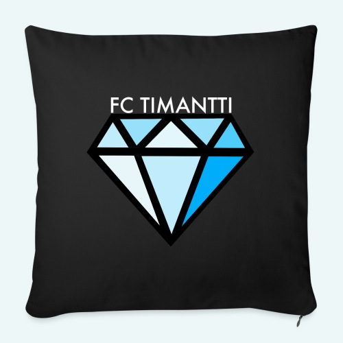 FCTimantti logo valkteksti futura - Sohvatyynyn päällinen 45 x 45 cm