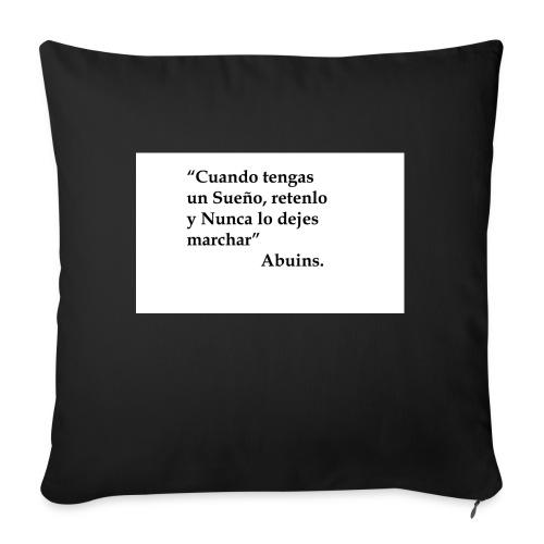 Frase camiseta Abuins 2 editado 1 - Funda de cojín, 45 x 45 cm