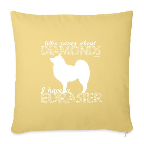 Eurasier Diamonds - Sofa pillowcase 17,3'' x 17,3'' (45 x 45 cm)