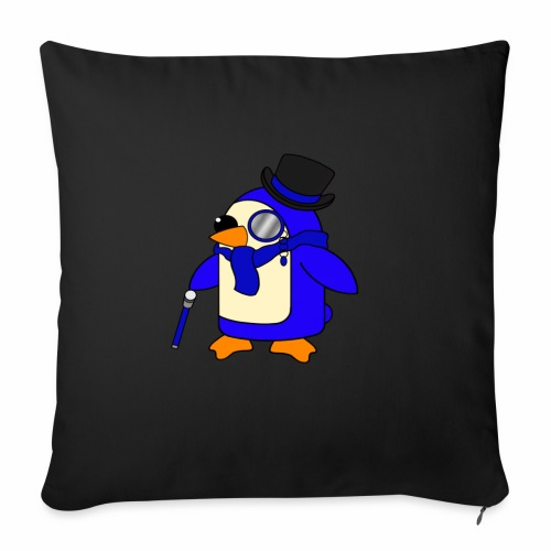 Cute Posh Ultramarine Blue Penguin - Sofa pillowcase 17,3'' x 17,3'' (45 x 45 cm)