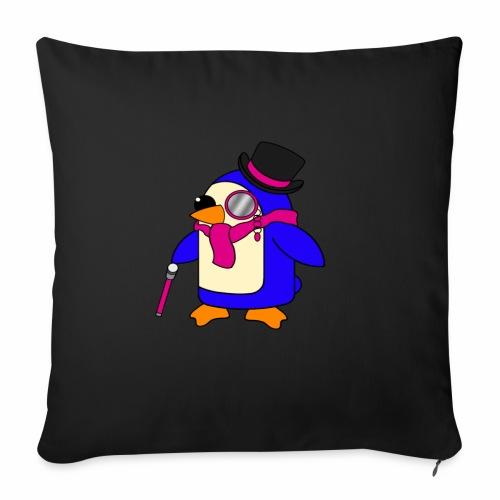 Cute Posh Flowery Pink Penguin - Sofa pillowcase 17,3'' x 17,3'' (45 x 45 cm)