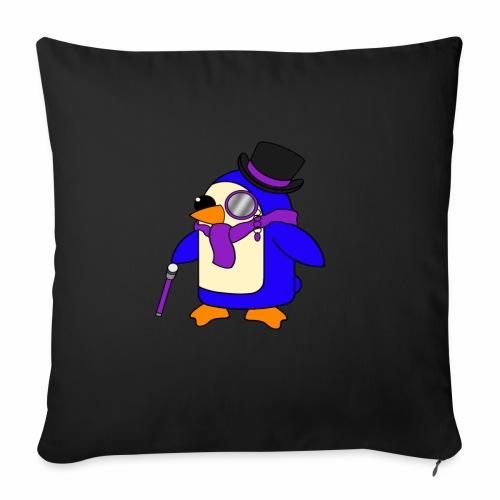 Cute Posh Purple Violet Penguin - Sofa pillowcase 17,3'' x 17,3'' (45 x 45 cm)