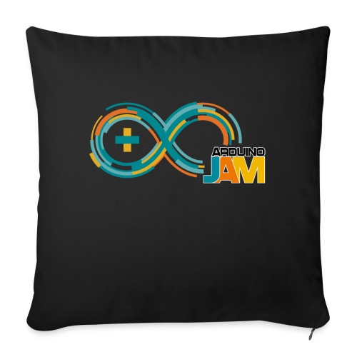 T-shirt Arduino-Jam logo - Sofa pillowcase 17,3'' x 17,3'' (45 x 45 cm)