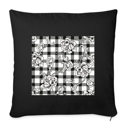 CHECK pattern throw pillow - Sofa pillowcase 17,3'' x 17,3'' (45 x 45 cm)