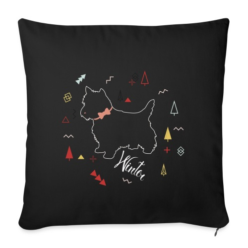 WINTER DOG COLLECTION - Housse de coussin décorative 45 x 45 cm