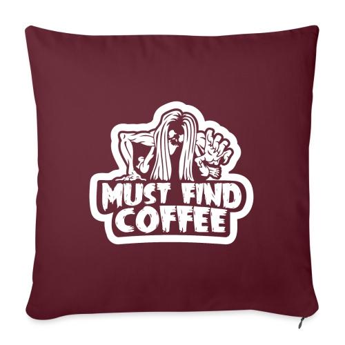 Must Find Coffee - Soffkuddsöverdrag, 45 x 45 cm