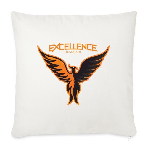 Logo Phoenix Typo Orange - Housse de coussin décorative 45x 45cm